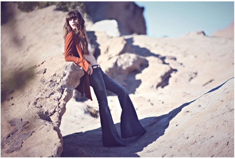 Kelley Ash Has the Blues for Free People Shoot