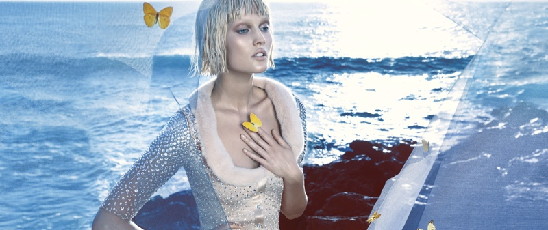 Preview | Toni Garrn for Blumarine Spring/Summer 2014 Campaign