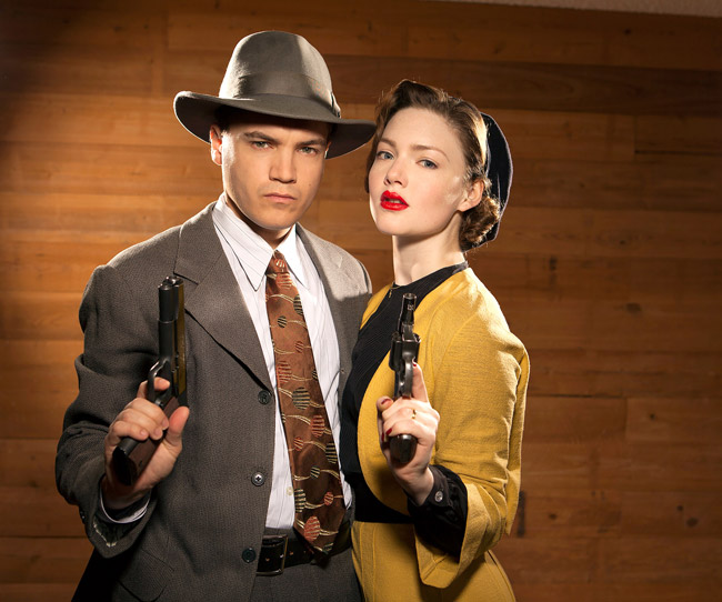 "Hollie Grainger and Emile Hirsch in ""Bonnie and Clyde"" 2013"
