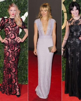 british fashion awards red carpet 326x406 Dolce & Gabbana Sicilian Jewels Makeup Line for the Party Season