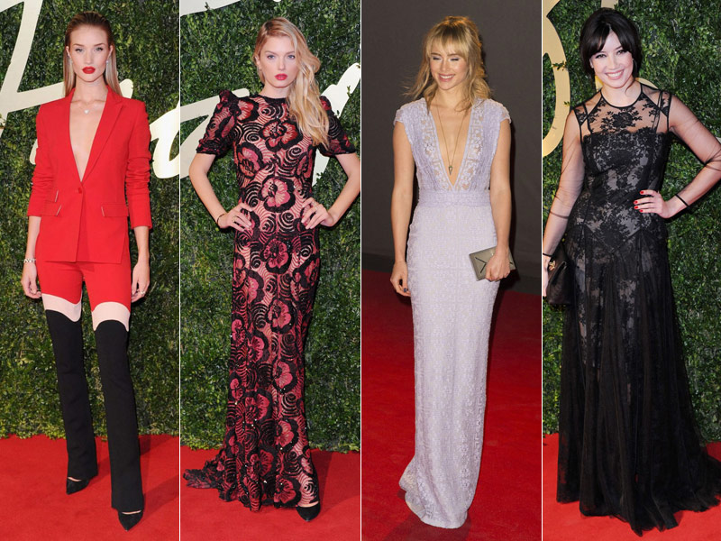 british fashion awards red carpet Daisy Lowe, Rosie Huntington Whiteley + More Stars at the 2013 British Fashion Awards