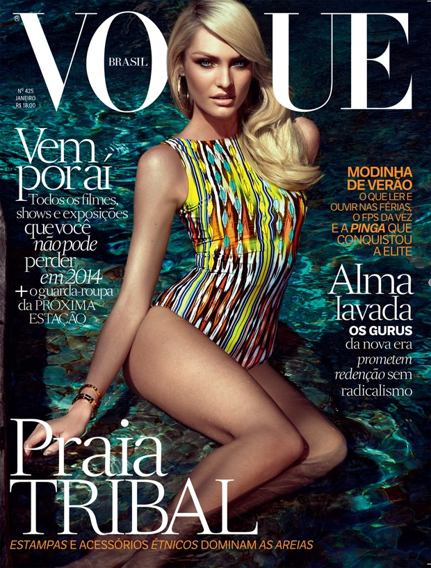 candice brazil1 Candice Swanepoel is Hot on Vogue Brazil January 2014 Cover