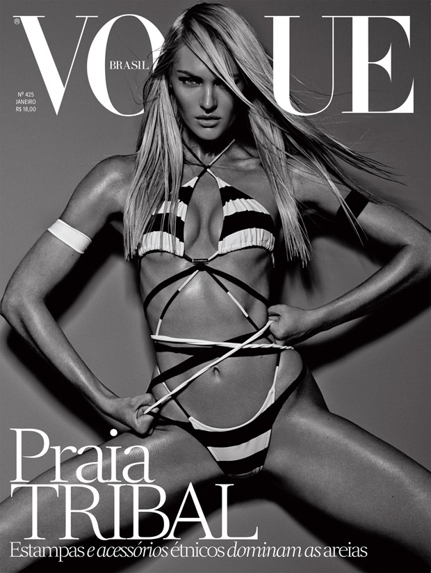 candice brazil2 Candice Swanepoel is Hot on Vogue Brazil January 2014 Cover