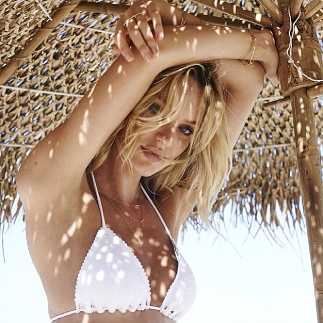 candice turks caicos Candice Swanepoel, Magdalena Frackowiak & Doutzen Kroes BTS at VS Swim 2014 Shoot