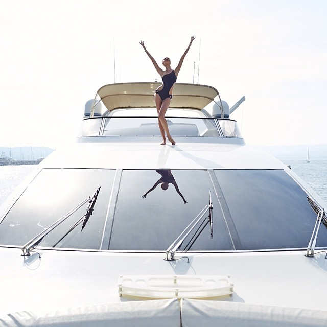 candice yacht Instagram Photos of the Week | Natasha Poly, Eniko Mihalik + More Model Pics