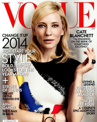 cate blanchett vogue cover 326x406 Versace, Miley Cyrus, Michael Kors Amongst Top 2013 Google Searches