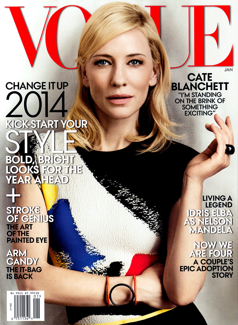 Cate Blanchett in Celine for Vogue January 2014 Cover