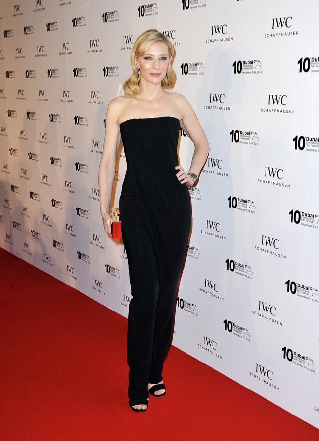 cate givenchy jumpsuit1 Cate Blanchett Wears Givenchy at 10th Annual Dubai International Film Festival