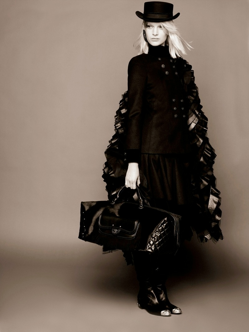 chanel ashleigh good prefall6 Ashleigh Good Stars in Chanel Pre Fall 2014 Shoot by Karl Lagerfeld