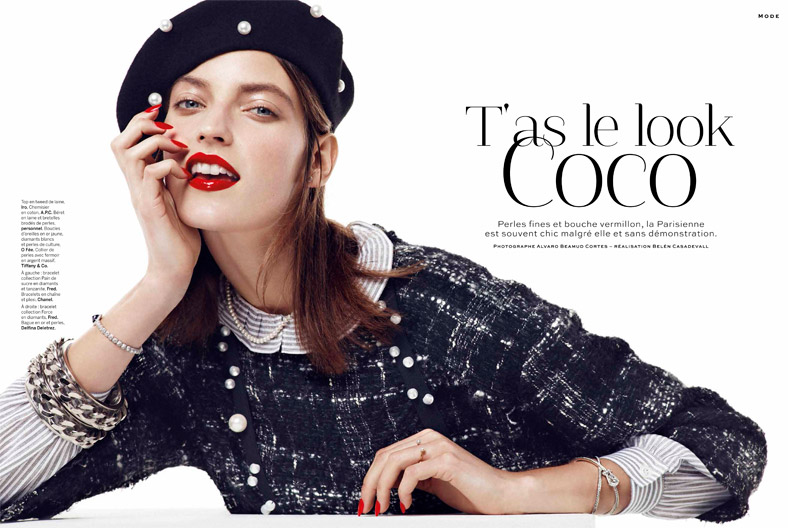 chanel chic1 Marikka Juhler is Chanel Chic for Alvaro Beamud Cortes in Stylist #27