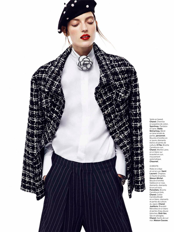 chanel chic2 Marikka Juhler is Chanel Chic for Alvaro Beamud Cortes in Stylist #27