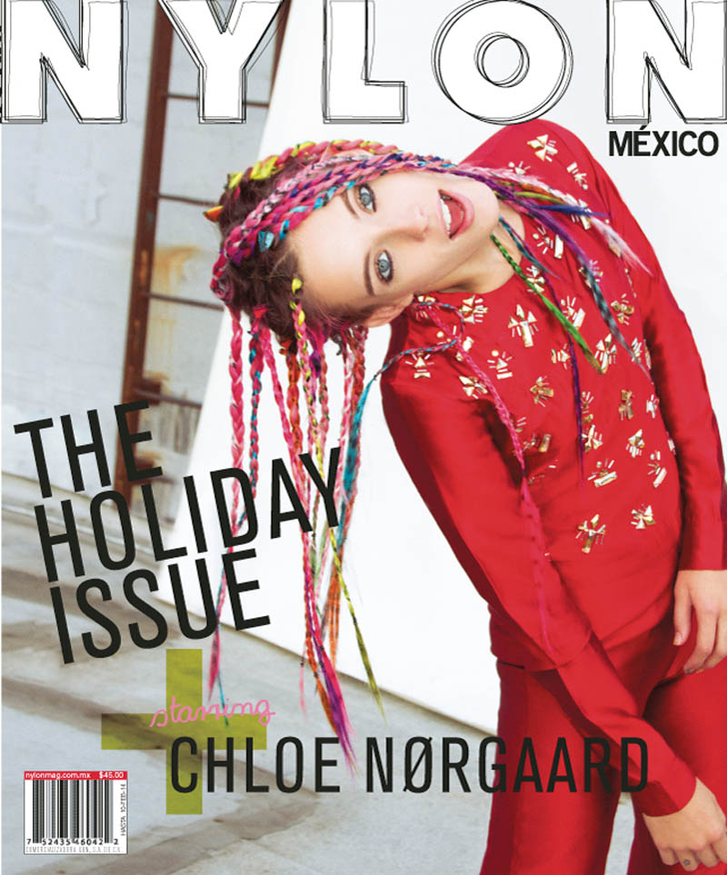 chloe norgaard hair1 Chloe Norgaard Rocks Colorful Braids for Nylon Mexico by Andrew Kuykendall