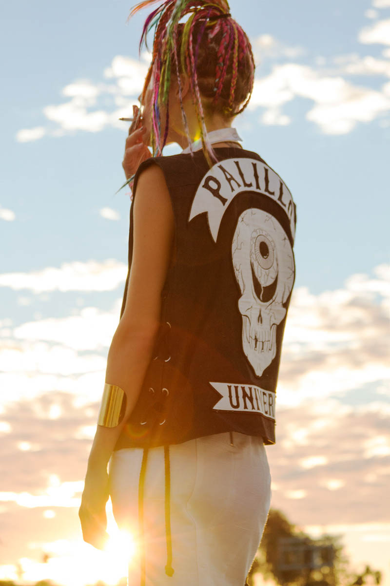 chloe norgaard hair9 Chloe Norgaard Rocks Colorful Braids for Nylon Mexico by Andrew Kuykendall