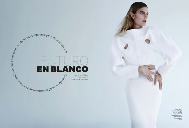 constance jablonski model1 Constance Jablonski Wears Sleek Style in S Moda by Eric Guillemain