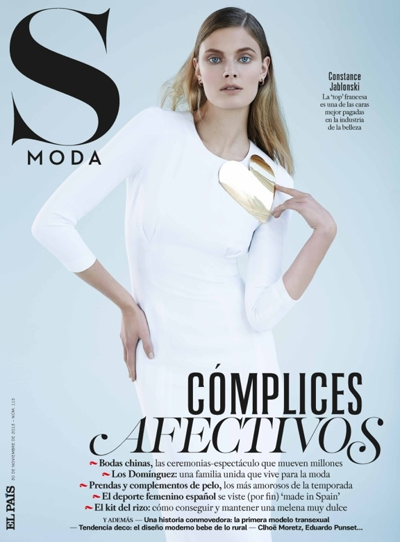 constance jablonski model6 Constance Jablonski Wears Sleek Style in S Moda by Eric Guillemain