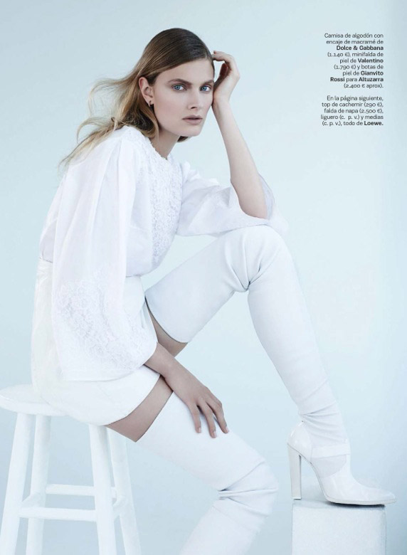 constance updated Constance Jablonski Wears Sleek Style in S Moda by Eric Guillemain