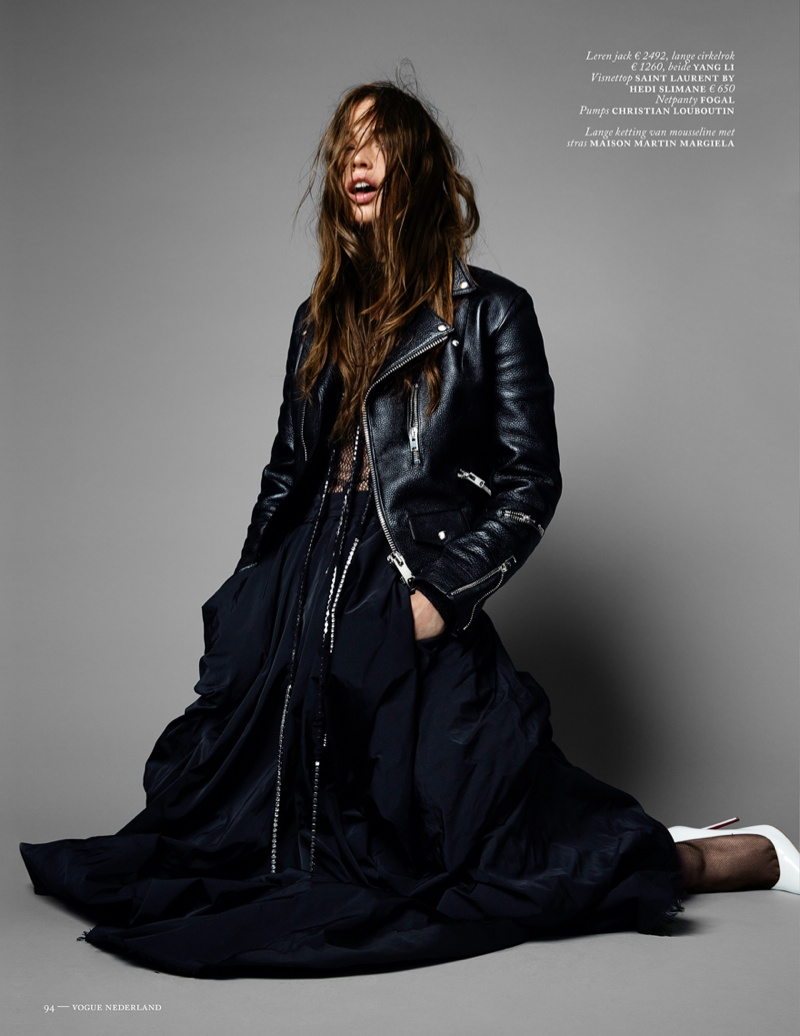 crista cober shoot10 Crista Cober Dons Glam Cool for Vogue Netherlands by Marc de Groot