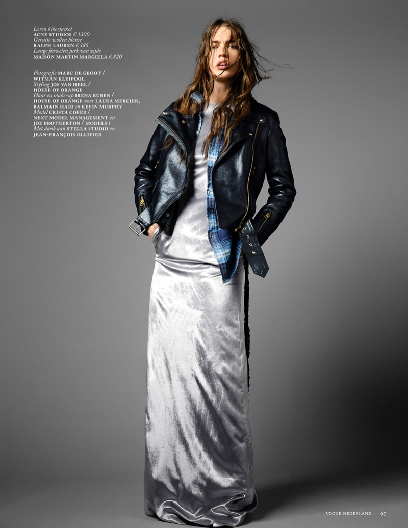crista cober shoot13 Crista Cober Dons Glam Cool for Vogue Netherlands by Marc de Groot