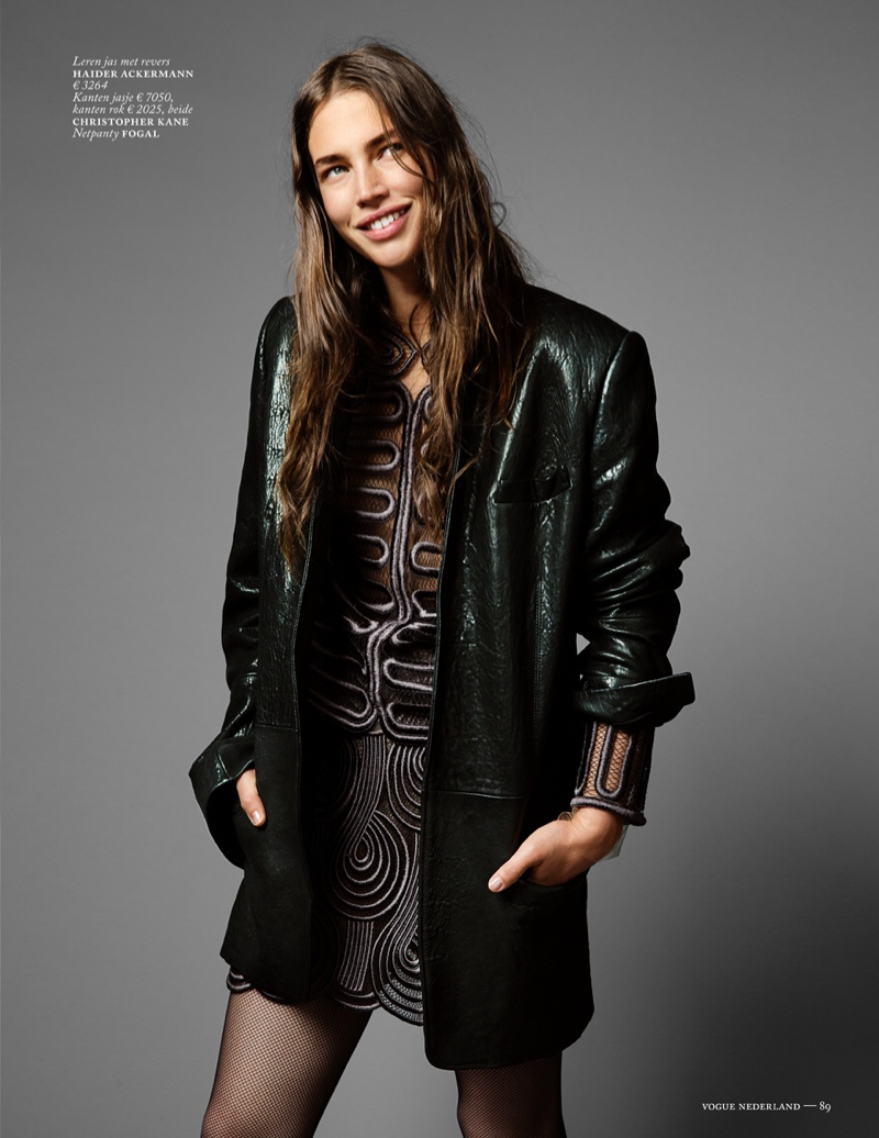 crista cober shoot5 Crista Cober Dons Glam Cool for Vogue Netherlands by Marc de Groot