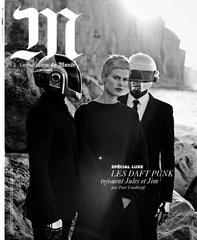 daft punk lindbergh1 Saskia de Brauw Joins Daft Punk in M le Monde Shoot by Peter Lindbergh