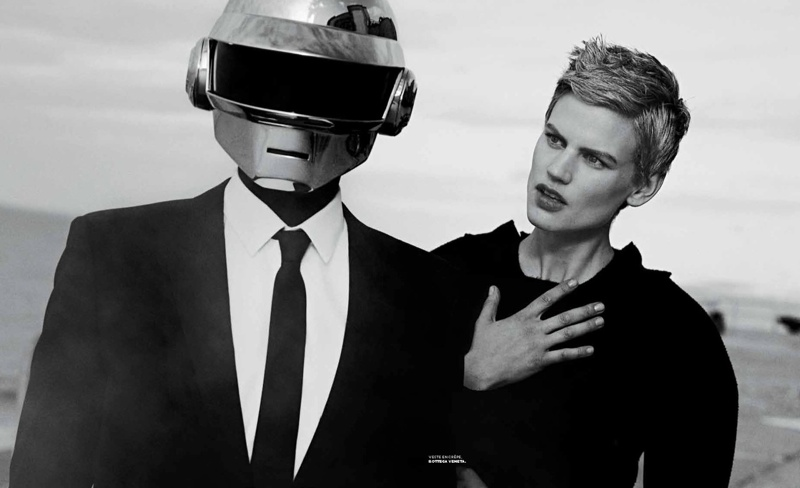 Saskia de Brauw Joins Daft Punk in M le Monde Shoot by Peter Lindbergh