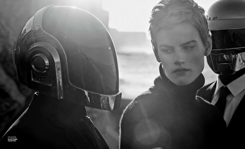 daft punk lindbergh11 Saskia de Brauw Joins Daft Punk in M le Monde Shoot by Peter Lindbergh