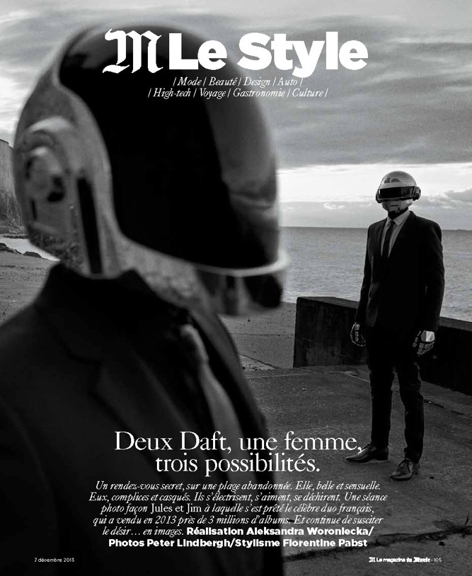 daft punk lindbergh2 Saskia de Brauw Joins Daft Punk in M le Monde Shoot by Peter Lindbergh
