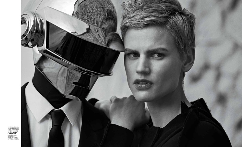 daft punk lindbergh5 Saskia de Brauw Joins Daft Punk in M le Monde Shoot by Peter Lindbergh