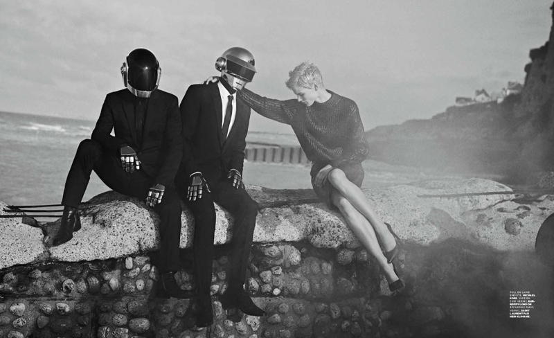daft punk lindbergh6 Saskia de Brauw Joins Daft Punk in M le Monde Shoot by Peter Lindbergh