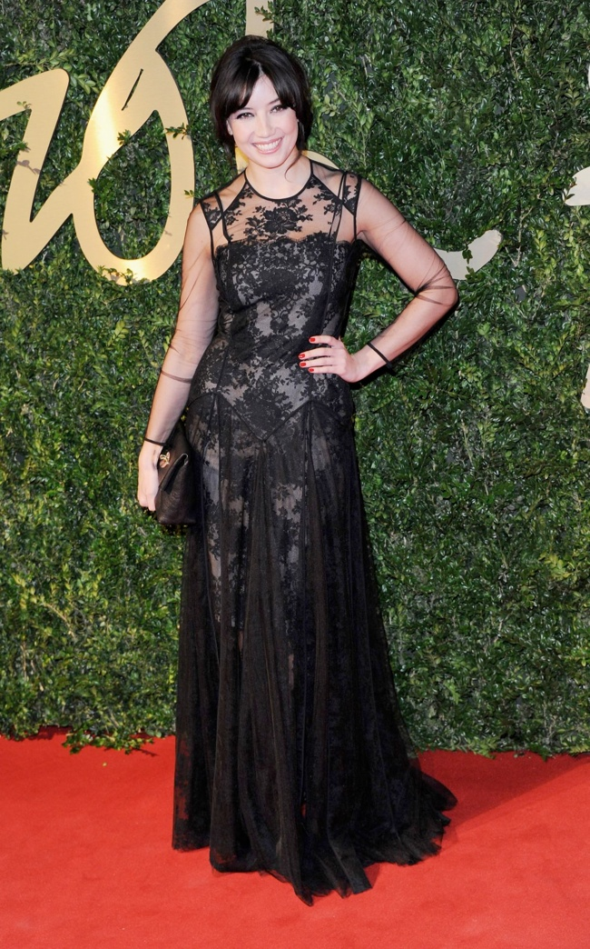 daisy lowe erdem Daisy Lowe, Rosie Huntington Whiteley + More Stars at the 2013 British Fashion Awards