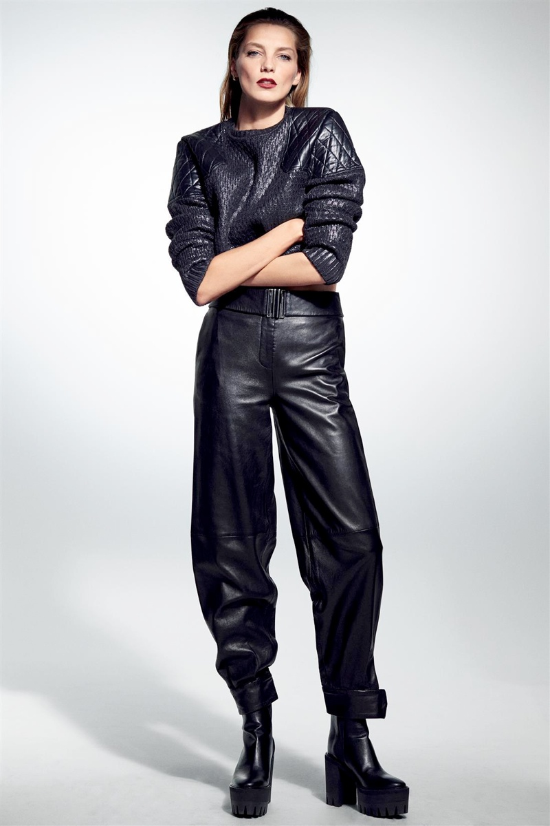 daria werbowy cass bird2 Daria Werbowy Models Leather Fashions for Cass Bird in LExpress Styles