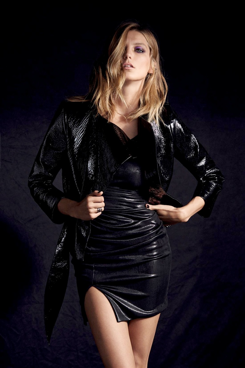 daria werbowy cass bird4 Daria Werbowy Models Leather Fashions for Cass Bird in LExpress Styles