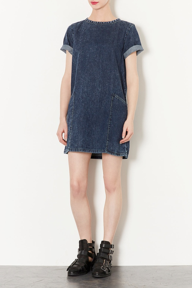denim dress topshop 5 Denim Essentials for Your Wardrobe