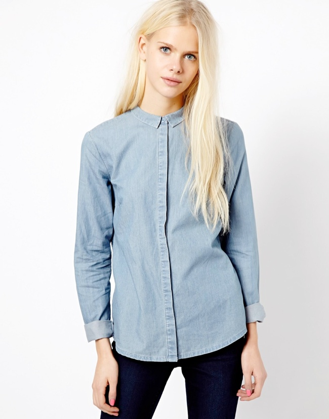 denim shirt esprit 5 Denim Essentials for Your Wardrobe