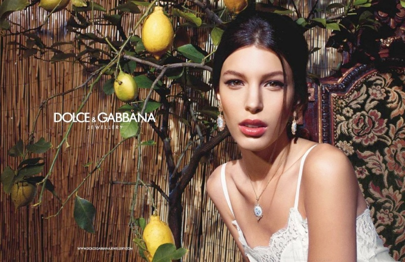 Kate King Stars in Dolce & Gabbana Baroque Jewelry 2013 Campaign