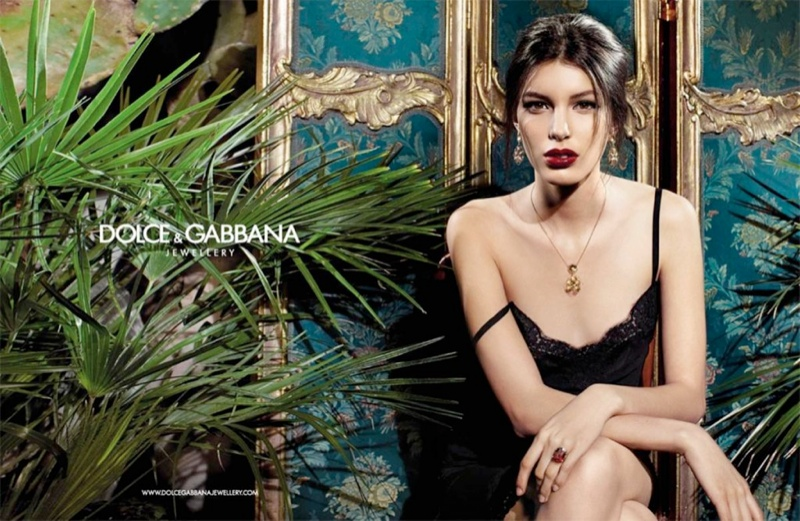dolce gabbana baroque jewelry 9 Kate King Stars in Dolce & Gabbana Baroque Jewelry 2013 Campaign