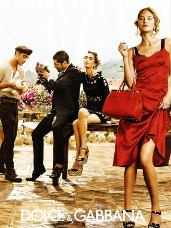 First Look | Dolce & Gabbana Spring/Summer 2014 Campaign with Catherine McNeil + Marine Deeluw