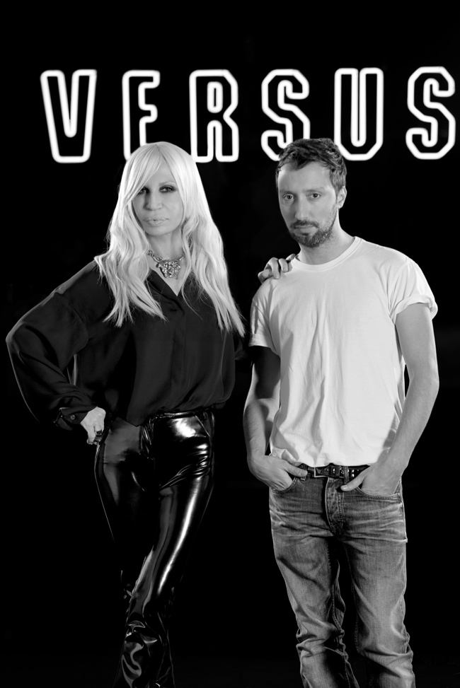 Image of Donatella Versace and Anthony Vaccarello / Courtesy of Versace