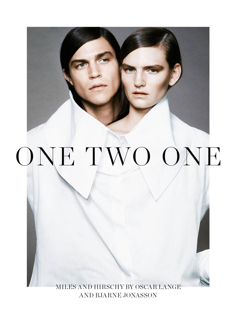 double fashion1 Hirschy Hirschfelder Poses for Bjarne Jonasson in Scandinavia S/S/A/W