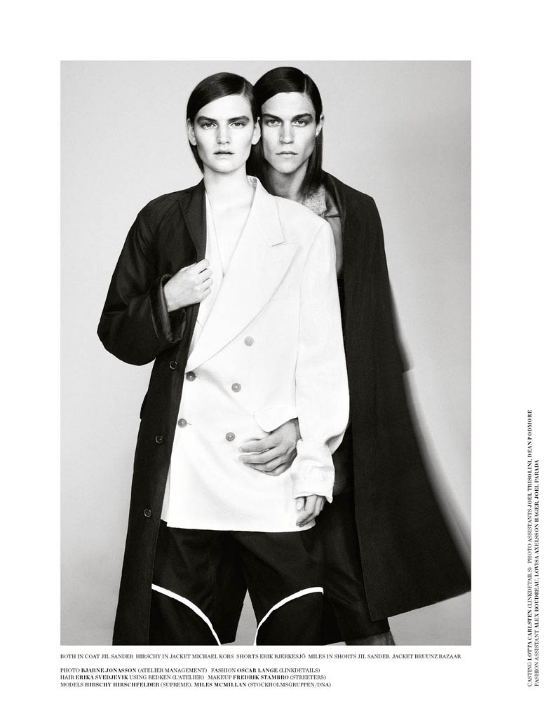 double fashion8 Hirschy Hirschfelder Poses for Bjarne Jonasson in Scandinavia S/S/A/W