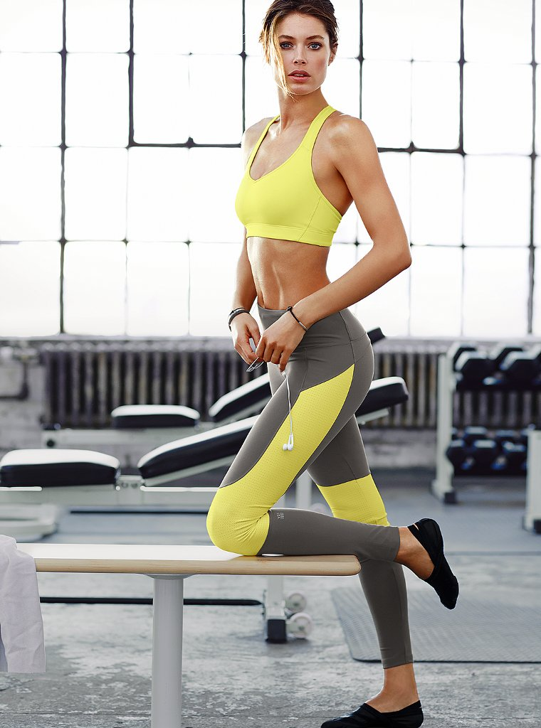 doutzen vsx13 Doutzen Kroes Works Out in Style for VS Sport