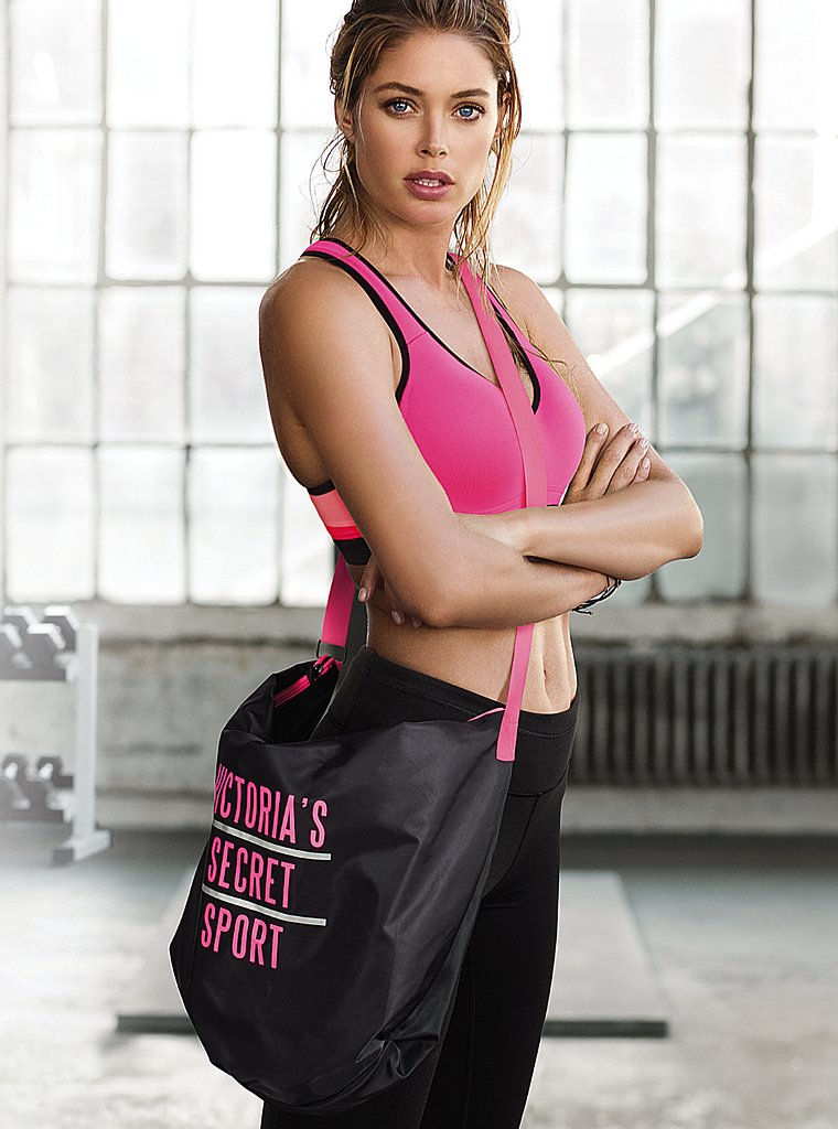 doutzen vsx2 Doutzen Kroes Works Out in Style for VS Sport
