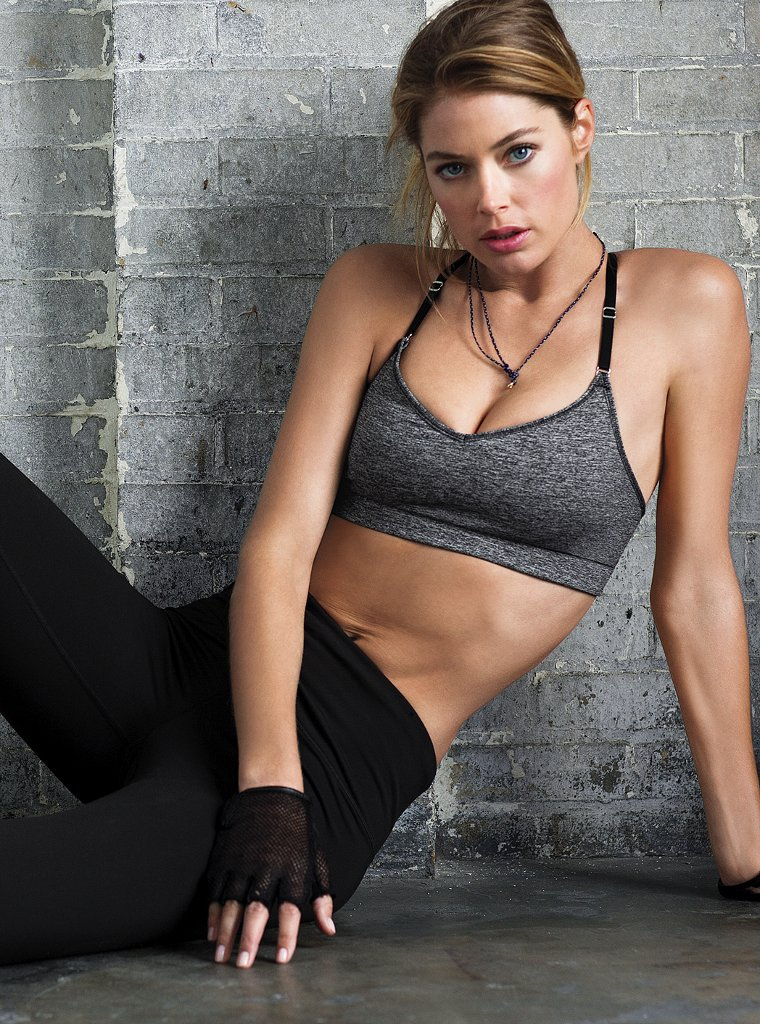 doutzen vsx3 Doutzen Kroes Works Out in Style for VS Sport