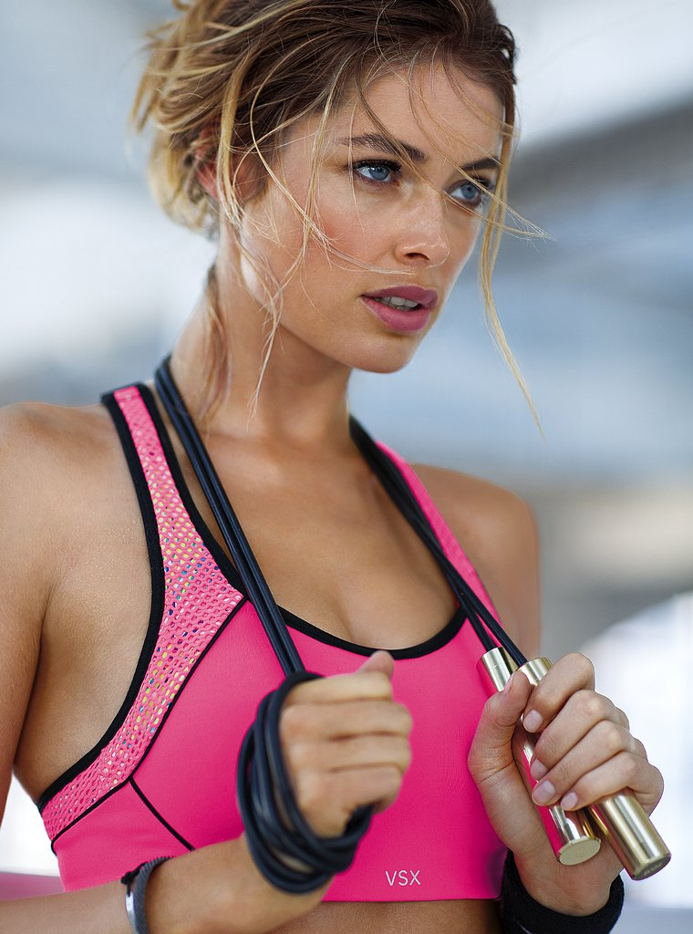 doutzen vsx4 Doutzen Kroes Works Out in Style for VS Sport