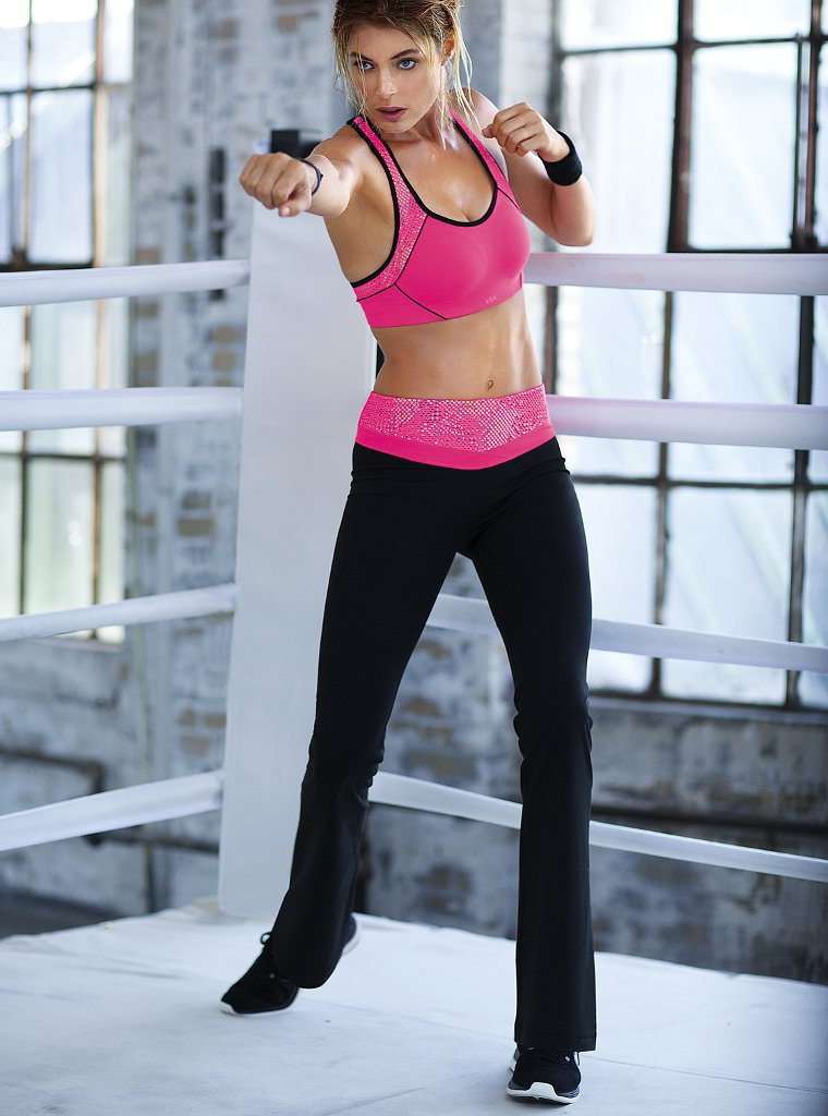 doutzen vsx6 Doutzen Kroes Works Out in Style for VS Sport