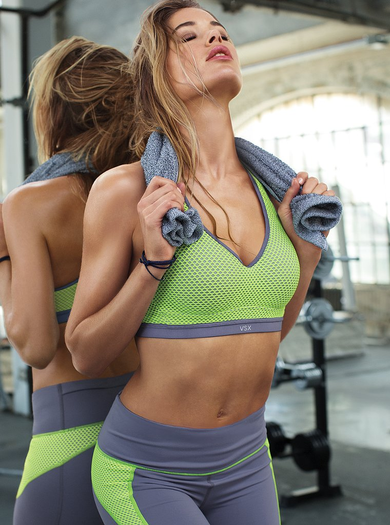 doutzen vsx8 Doutzen Kroes Works Out in Style for VS Sport