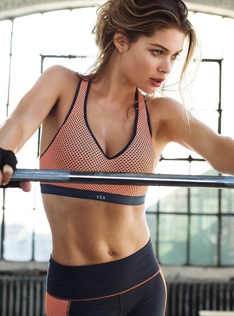 doutzen vsx9 Doutzen Kroes Works Out in Style for VS Sport