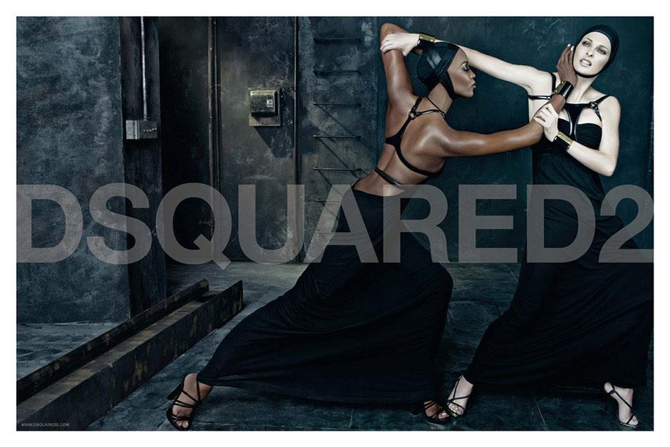 Naomi Campbell + Linda Evangelista for DSquared2 Spring 2009 Campaign
