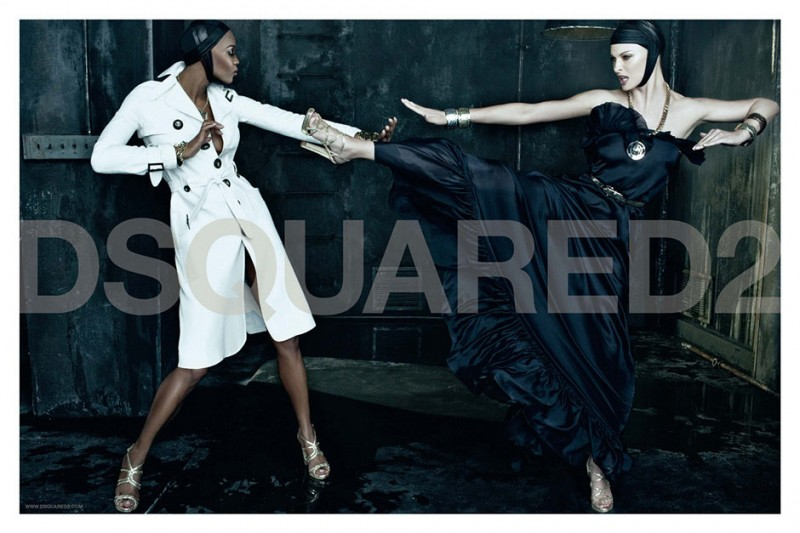 dsquared spring 2009 campaign 2 800x533 Throwback Thursday | Naomi Campbell + Linda Evangelista for DSquared2 Spring 2009 Campaign