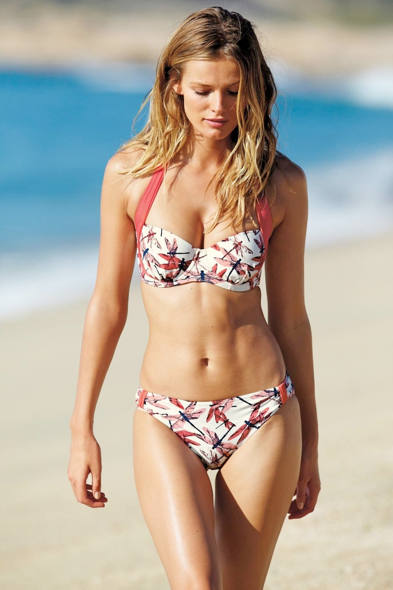 edita v swimwear6 Edita Vilkeviciute Models Swimwear Looks for Next Spring 2014
